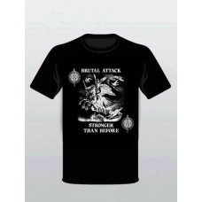 "Brutal Attack ""Stronger Than Before""  T-Shirt Black"